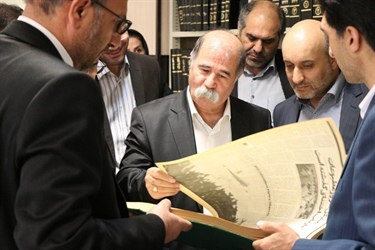 """Reading is the key for development and awareness in societies"", said Chief Executive Officer of Khales Sazan Industrial Group in visiting Seyed Afzal Mousavi Library."